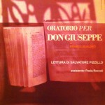 Locandina Oratorio per don Giuseppe, 2011, © Compagnia di Franco Scaldati, Archivio privato Scaldati