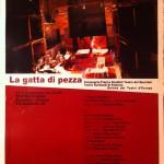 Locandina La gatta di pezza, 2008, © Compagnia di Franco Scaldati, Archivio privato Scaldati